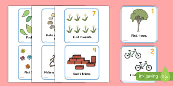 Outdoor Maths Trail Cards - Outdoor activity, outdoor games, outdoor cards, outdoor classroom, outdoor learning, maths trail cards, maths trail, numeracy