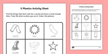 s Phonics Activity Sheet-Irish, worksheet