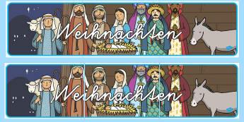 Weihnachten Banner für die Klassenraumgestaltung - Weihnachten Banner für die Klassenraumgestaltung, Weihnachten, Weihnachten Banner, Weihnachtsbanner