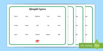 Mat Geiriau Afonydd Cymru - afon, afonydd, cymru, Cymru, daearyddiaeth, tir, dŵr,Welsh