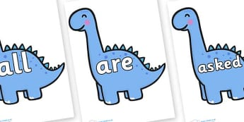 Tricky Words on Diplodocus Dinosaurs - Tricky words, DfES Letters and Sounds, Letters and sounds, display, words