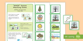 Season Matching Game English/Polish - When Season Matching Game - seasons, weather, season games, game, waether, WHEATHER, seaons, wetaher