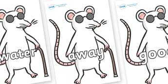 Next 200 Common Words on Blind Mice - Next 200 Common Words on  - DfES Letters and Sounds, Letters and Sounds, Letters and sounds words, Common words, 200 common words