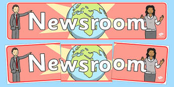 Newsroom Display Banner - news, newsroom, display, banner, sign, poster, news presenter, reporter, camera, headlines, story, press, camera operator, bulletin