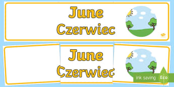 June Display Banner English/Polish - June Display Banner - june, display banner, display, banner, months, year, abnner,EAL,Polish-transla