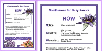 Mindfulness for Busy People - an Exercise - mindfulness, busy, people