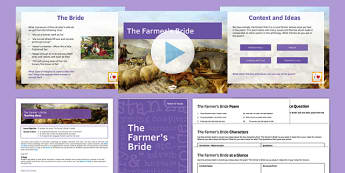 The Farmer's Bride AQA Syllabus Lesson Pack - AQA, English Literature, GCSE, Poetry Cluster, Love and Relationships, Charlotte Mew, Poetry, reading, exam