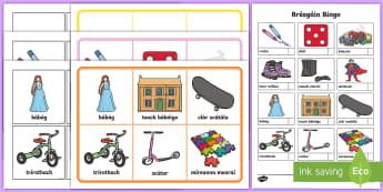 Bréagáin Bingo Gaeilge  - Gaeilge, Irish, bréagáin, toys, bingo, biongó, caitheamh aimsire, hobbies,Irish