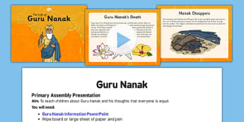 Guru Nanak Assembly Script and PowerPoint Pack - guru nanak, assembly, script, powerpoint, pack