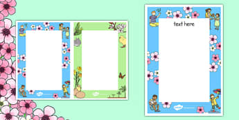 Spring Themed Editable Notes - spring, season, note, spring notes
