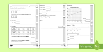 Procedural Maths Practice Test Year 5 Maths Activity Booklet - Procedural Examples, tests, test, Numeracy Tests, procedural,  Years 5, years 6, Deunyddiau Sampl Gw