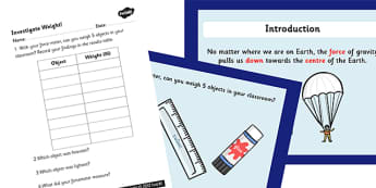 Gravity and Weight Task Setter - gravity, weight, task setter, gravity and weight task, gravity and weight, task about gravity and weight, science tasks