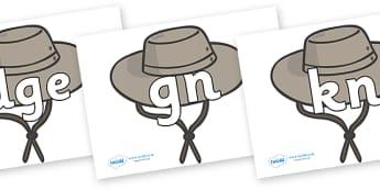 Silent Letters on Cowboy Hats - Silent Letters, silent letter, letter blend, consonant, consonants, digraph, trigraph, A-Z letters, literacy, alphabet, letters, alternative sounds