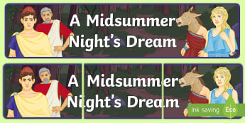 A Midsummer Night's Dream Display Banner - puck, oberon, woods, fairies, forest