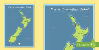New Zealand Map Display Posters - New Zealand Geography, map