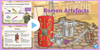 Roman Artefact Activity PowerPoint - To investigate the Roman Empire and its impact on Britain; address and devise historically valid que