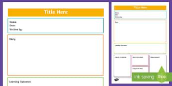 ECE Learning Story Portfolio template - New Zealand Back to School, portfolio, narrative, children's work, observations, reflections, asse