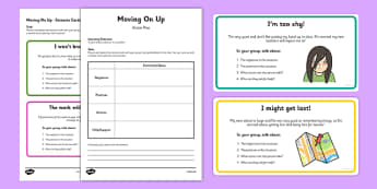Year 6 Transition Scenario Cards and Action Plan Activity Pack - year 6