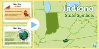 Indiana Symbols PowerPoint - United States History, State History, Indiana, State Symbols, Indiana History