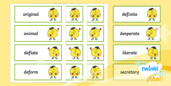 PlanIt Spelling Year 5 Term 3B Word Cards - word cards, flashcards, spelling, y5, spag, gps, lists