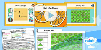 PlanIt Y1 Fractions Lesson Pack Halves (1) - planit, fractions, year 1, maths, lesson pack, halves, 1
