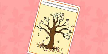 Copacul toamnei - Planșetă pentru modelajul cu plastilină
