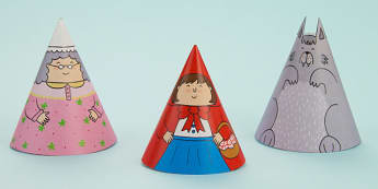 Little Red Riding Hood Cone Characters - little red riding hood