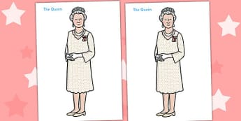 Fully Body Queen Display Poster - Queen, Elizabeth, royal, family, poster, display, sign, Prince philip, monarchy, monarch