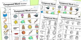 Compound Word Worksheet - compound, literacy, english, worksheet