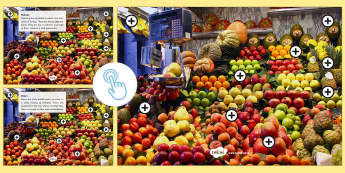 Fruit Facts Picture Hotspots - Picture hotspots, fruit, nutrition, healthy eating, food