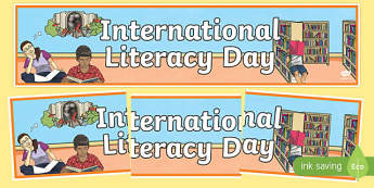 International Literacy Day Banner