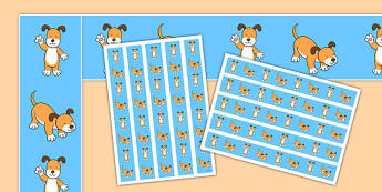 Dog Themed Display Borders to Support Teaching on The Blue Balloon - kipper, kipper the dog, kippers birthday, display, borders