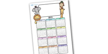 Editable 2013 Calendar Animals - calendar, editable calendar, months of the year, display calendar, animals, animal, animal calendar, animal themed calendar, pets, display, display poster, poster, the year, 2013, 2013 calendar