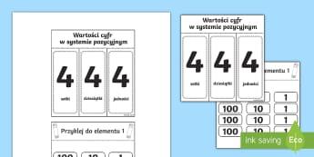 Pomoc wizualna System pozycyjny S D J - pomoc, wizualna, książeczka, system, układ, dziesiątkowy, dziesiętny, pozycyjny, dziesiątki, j