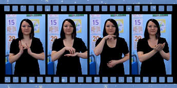 20 Christmas Signs in British Sign Language Video Clip - christmas, signs, british, british sign language, bsl, video clip