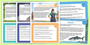 Reading Comprehension Skills Challenge Cards