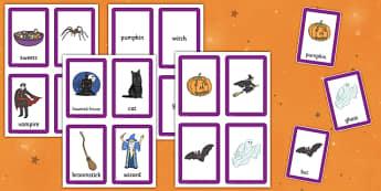 Halloween Pairs Matching Game - games, activities, activity