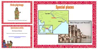 KS1 Hindu Pilgrimage Teaching and Task Setting PowerPoint - Hindu