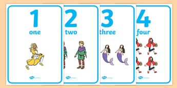 Traditional Tales Themed Number Posters 0-20 - traditional tales, story books, fairy tales, number, poster