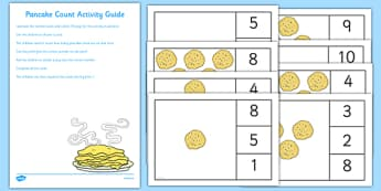 Pancake Count Busy Bag Resource Pack for Parents - shrove Tuesday, count, maths