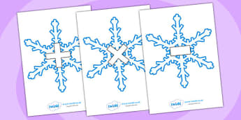 Maths Symbols on Snowflakes - maths symbols, mathematic symbols, maths on snowflakes, mathematics, math signs