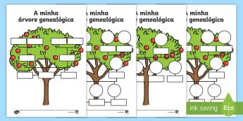 Árvore genealógica, ficha de atividades - My Family Tree Worksheets - Family tree, family tree template, my family, parent, mum, dad, grandpar