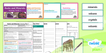 Y3 Rocks and Minerals: Activity Plan 1 PlanIt Guided Reading Pack to Support Teaching on Rocks and Minerals - Rocks and Minerals, carousel, science, rocks and soils, guided reading, Caroline Bingham, Dorling Ki
