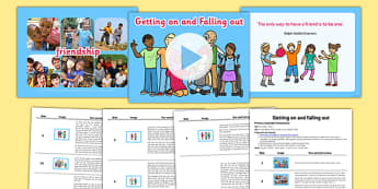 SEAL Getting on and Falling out Assembly Pack - pshe, psche, relationships, social, emotional, aspects, learning, friendships, ks1, ks2, key stage