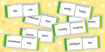 Synonyms Loop Cards - synonyms, synonym loop cards, synonym activity, synonym game, ks2 literacy games, ks2 literacy, antonyms and synonyms, ks2 games