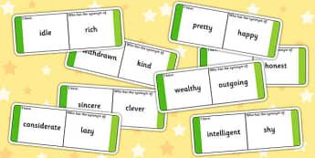 Synonyms Loop Cards - synonyms, synonym loop cards, synonym activity, synonym game, ks2 literacy games, ks2 literacy, antonyms and synonyms, ks2 games