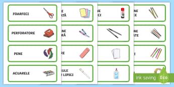 Etichete pentru materialele din colțul de arte - etichete, materiale, arte, spațiu de lucru, materiale, română, material, eticheta,Romanian