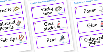 Lollipops Themed Editable Creative Area Resource Labels - Themed creative resource labels, Label template, Resource Label, Name Labels, Editable Labels, Drawer Labels, KS1 Labels, Foundation Labels, Foundation Stage Labels