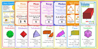 KS2 Maths Bumper Display Pack - ks2, maths, bumper, display, pack