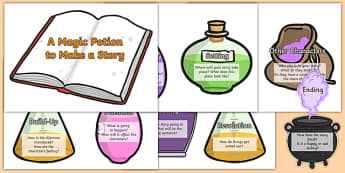 Magic Potion Ingredients to Make a Story - story, how to make a story, magic ingredients, story components, writing stories, creative writing, things to include in a story